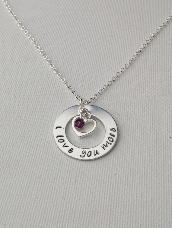 i love you more sterling silver necklace by