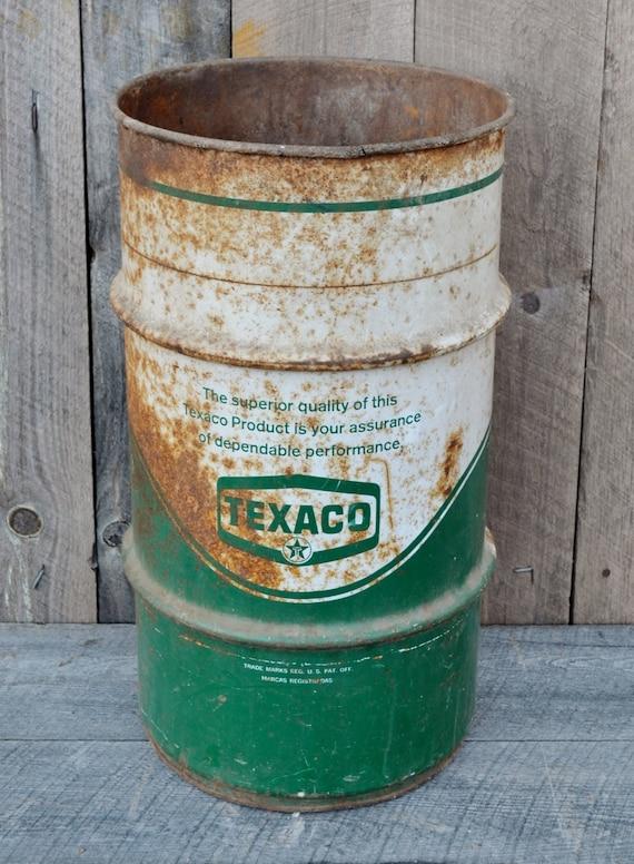 Texaco Grease Barrel Green White Metal Advertising Automotive