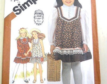 Simplicity 5395 Child's Pullover Dress Size 6