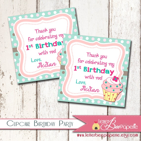 Our Little Cupcake Favor Tags - 1st, 2nd 3rd Birthday ...