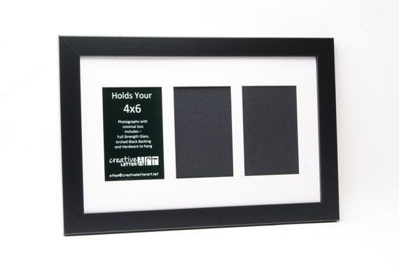 Black Picture Frame With 3 Opening To Hold 4 X 6