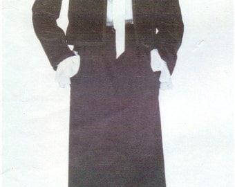 1980s Yves Saint Laurent Womens Below Waist Jacket, Skirt & Blouse Vogue Paris Original Sewing Pattern 2338 Size 12 Bust 34