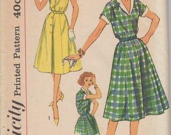 FACTORY FOLDED 1950's Women's Dress Simplicity 2847 Size 18 Bust 38
