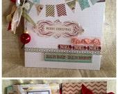 Merry Christmas Scrapbook Memory Album Advent