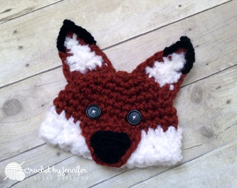 Crochet Pattern for Woodland Fox or Wolf Hat - 6 sizes, baby to large adult - Welcome to sell finished items