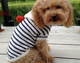 Sailor Nautical Dog Knit  Sweater