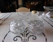 Beautiful Heavy Crystal Vanity dresser set