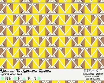 Yellow and Tan Southwestern Mountains - ETSY KIT