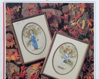 Jan Anderson AUTUMN STROLL By Color Charts - Counted Cross Stitch Pattern Chart