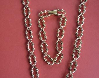 Avon Versitile Necklace and Bracelet Chunky Chain Combo