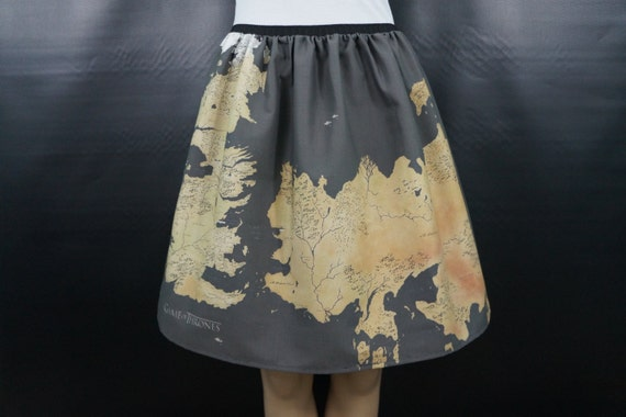 The Known World of GoT full skirt - made to order