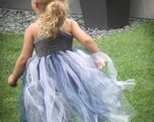 "Crochet Tutu Dress Pattern: ""Robin Dress"" Flower Girl dress, Party Dress, Toddler"
