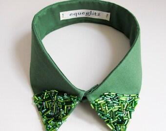 Gatsby inspired emerald beaded collar