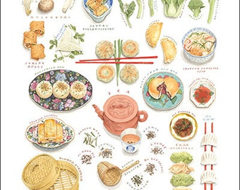 Dim Sum-The Art of Chinese Tea Lunch, Small Giclee Print