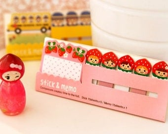 Sticky Memo Notes - Strawberry