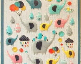 Lovely Elephant Deco Stickers