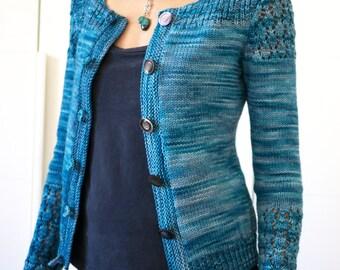 Instant download - Costanza knit cardigan pattern (pdf file) - knitting pattern - Cardigan