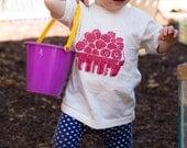 100% Organic Cotton Raspberry Basket Kids Tee