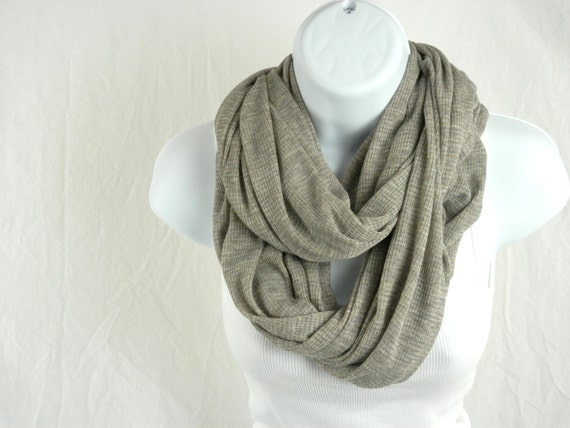 Cozy as Can Be Heather Grey Rib Knit Infinity Scarf With a Touch of ...