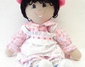 Handmade Rag Doll fabric doll 18 inch muslin cloth doll ragdoll latino latina child friendly NF78