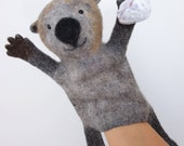 the  sea otter hand puppet, wet felted, MADE TO ORDER
