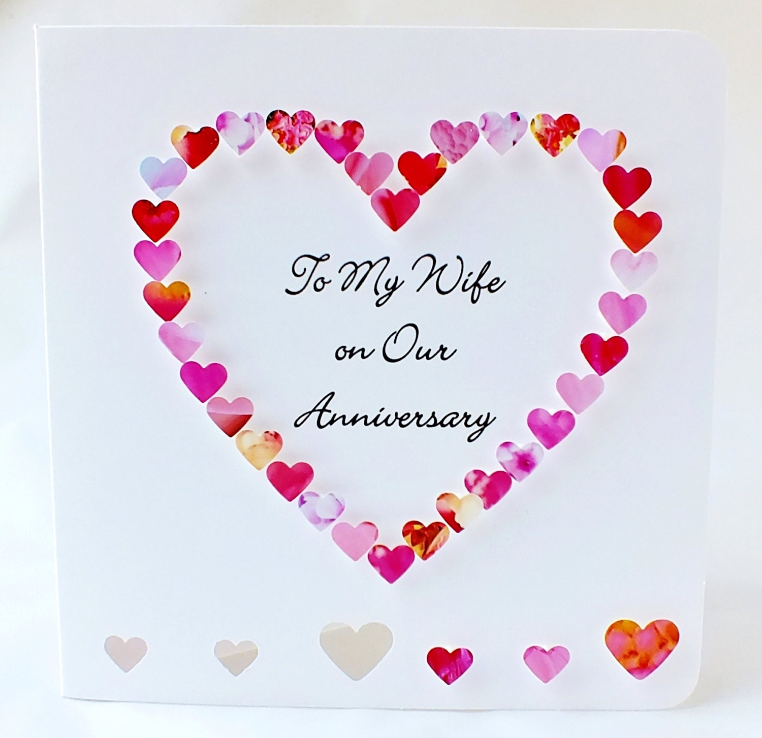 Wedding Anniversary Wishes: Handmade 3D Anniversary Card Personalised Personalized To