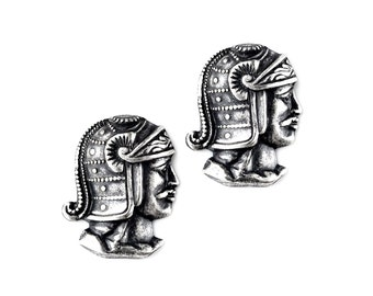 Roman Soldier Cufflinks - Gifts for Men - Anniversary Gift - Handmade - Gift Box Included