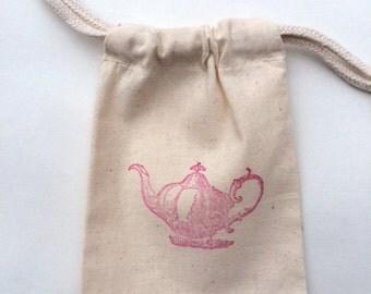 Tea Party Favor Bag / Set of 30 / Teapot Favor Bags