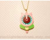 Pastel Yumi Tulip Blossom Necklace Acrylic Necklace for Mahou Kei, Magical Girl Fashion
