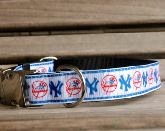 Yankee Dog Collar / New York Dog Collar / Metal Buckle