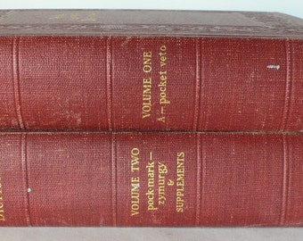 vintage Dictionary two volumes, color plates,1942, from Diz Has Neat Stuff