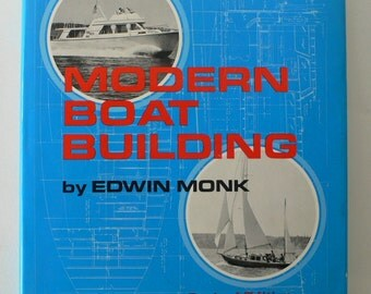 vintage book, Modern Boat Building 1973 from Diz Has Neat Stuff
