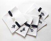 Set of 5 Personalized Groomsmen Gift Pocket Squares, Monogrammed Vintage Gifts for Groomsmen, Will You Be My Groomsman, Custom Pocket Square