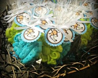 25 MONKEY SOAPS {Favors} - Mod Monkey Birthday Favor, Baby Shower Favor, Monkey Soap, George Inspired Favor, Zoo, Jungle