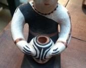 """Felipa Trujillo, """"Woman with Pot"""" Figurine"""