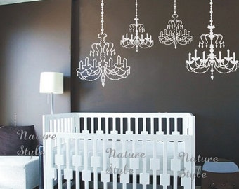 Chandelier wall decal wedding wall decal party wall decal chandelier vinyl wall decalstickernature design baby room decal wall decal nursery aloadofball Gallery