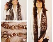 Gemstone Long Necklace, Chunky Necklace, Bronze Statement Necklace, Bronze Long Necklace, Long Necklace