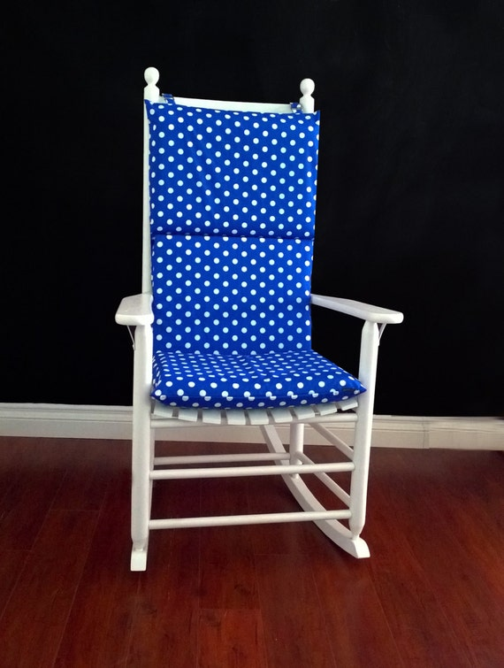 rocking chair cushion cover royal blue white by rockincushions