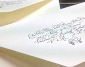 Your Address in hand lettered Calligraphy - Digital hand lettering for letterpressing or printing - Wedding Invitation Envelopes