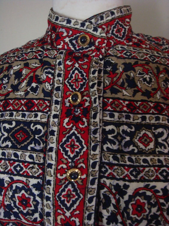 vintage bohemian clothing womens tribal print by