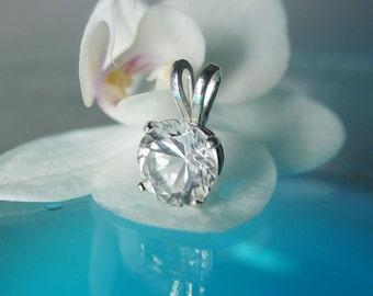 Herkimer Diamond  Pendant Sterling Silver