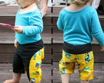 Chapsters - Long Pants / Shorts  PDF Pattern - Sizes NB to 5yrs - Boy or Girl - By PetitBebe