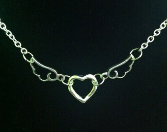 Winged Heart Necklace- ON SALE