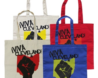 Viva Cleveland - Totes (Natural, Red, or Royal Blue)