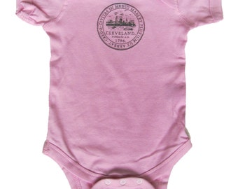 Baby One-Piece - Cleveland City Seal (Powder Pink)