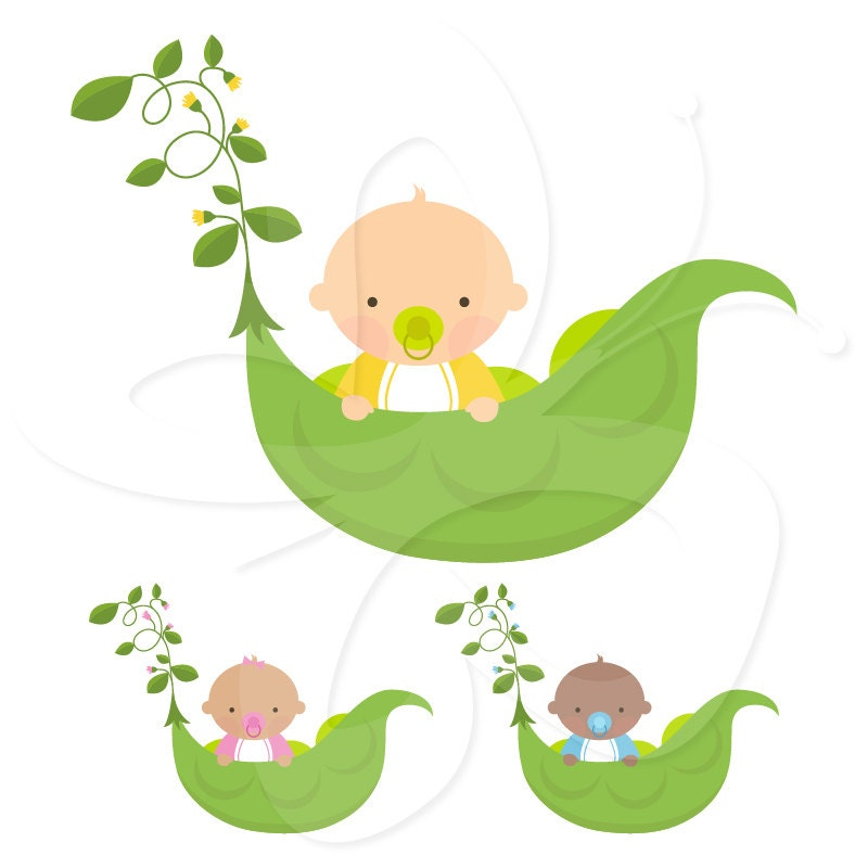 Sweet Pea Baby Clip Art Clipart Set by CollectiveCreation ...