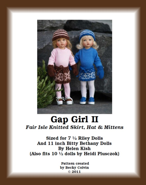 Gap Girl-RB--PDF Knitting Pattern for Helen Kish's 7 1/2