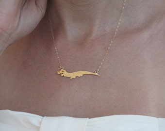 Neverending Story Necklace , Falcor Necklace , Book Nerd Jewelry , Dragon Necklace , Falcor  Jewelry , The Never Ending Story Jewelry