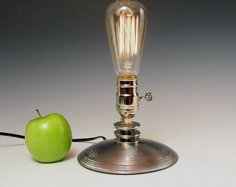 Table lamp. Desk Lamp. Bedside lamp. INCLUDES Edison bare filament bulb. Seriously Industrial. Steam punk. Deco. #204