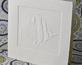 Angel Fish Embossed Greeting Card